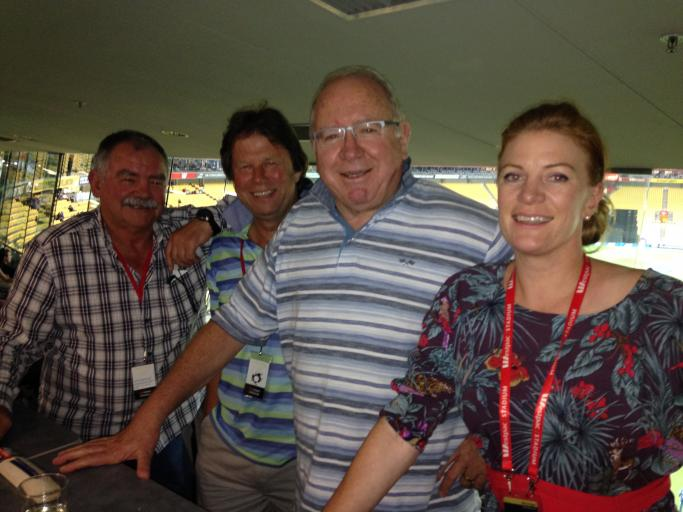 A Top night at the cricket in Wellington. Three Rugby Men very well hosted.