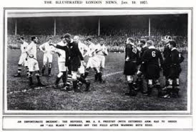 Nearly 100 years after one of rugby's greatest scandals, an old scrapbook is dusted off and opened.
