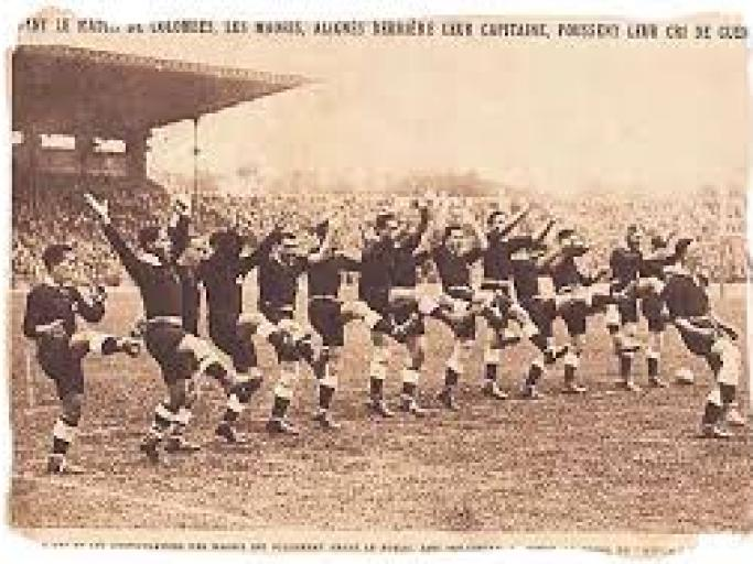 A favourite haka photo from long ago; from the 1926-27 Maori All Blacks tour of France